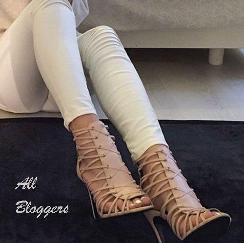 rivenditori online ZARA RARE nude in pelle tacco alto alto alto sandali STIVALI uk8_eu41_usa10 2626 001  fino al 60% di sconto