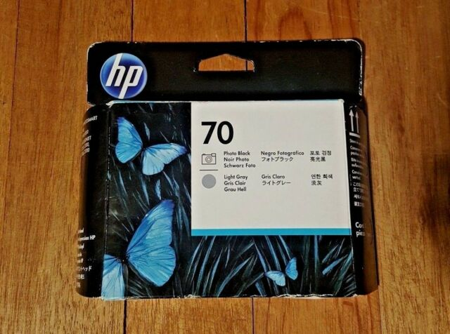 Genuine HP 70 Photo Black and Light Gray Ink Printhead C9407A - NEW Expired 2013