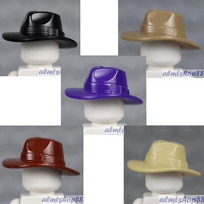5x Knit Cap Minifigure Hat Black Dark Blue Gray Lavender Red Town City LEGO