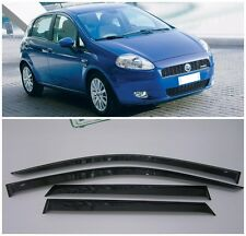 For Fiat Grande Punto 5d 2005-2009 Window Visors Side Rain Guard Vent Deflectors
