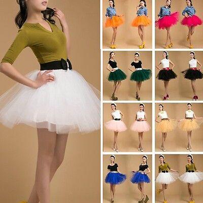 Pettiskirt Tutu Womens Skirt Organza Ballet Adult Party Dance Petticoat White