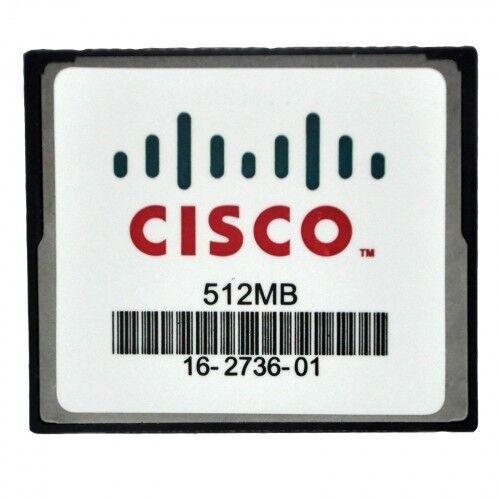 Genuine Cisco 512 MB CF Compact Flash Memory Card 1841 2801 2811 2821 2851 3745