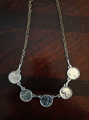 1946 Penny Necklace dipped in Sterling Silver