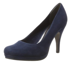 Details about Tamaris Womens UK 6.5 EU 40 Navy Faux Suede 3.75