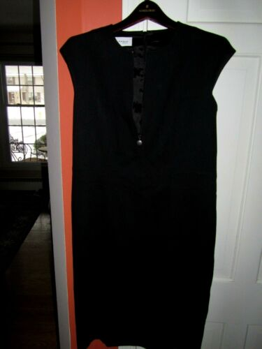 Akris Punto  Black Sexy Dress Front /Back Zipper S