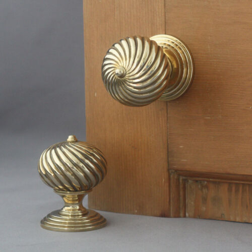 Edwardian Segmented Brass Door Handles