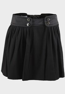 womens-black-skater-party-casual-mini-skirt-with-satin-waistband