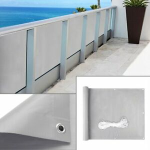 PVC Balkonsichtschutz Balkonbespannung Windschutz Sichtblende für Gartenzaun