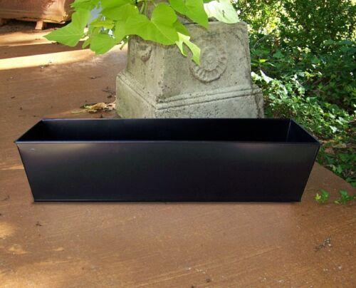 "BLACK METAL WINDOW BOX IN//OUTDOOR GARDEN CONTAINER PATIO DECK PLANTER 21/"" /& 29/"""