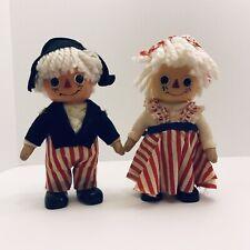 Rare Vtg 1974 Raggedy Ann and Andy Bank Royalty Dolls!