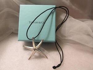 7dce31d3aeb7e Tiffany & Co Elsa Peretti Sterling Silver Starfish Pendant Necklace ...