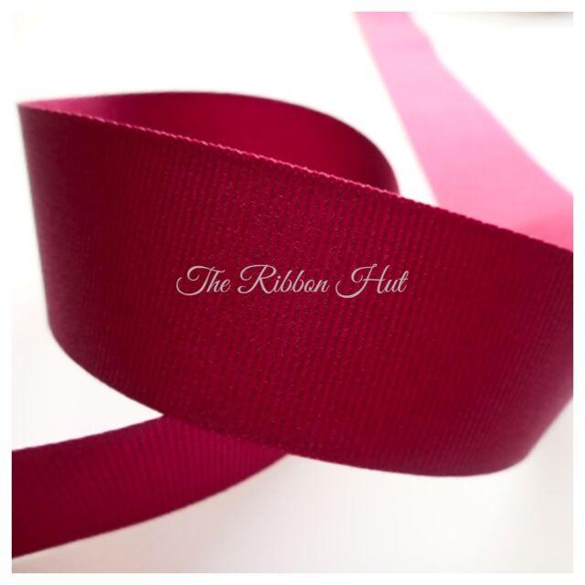 2m 25mm Berisfords Dusky Pink Grosgrain Ribbon