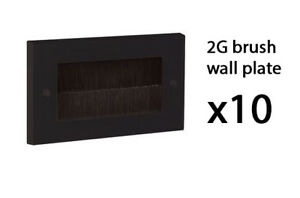 Murale Simple Double Commande Noir//Blanc Façade Brosse pour Câble Sortie