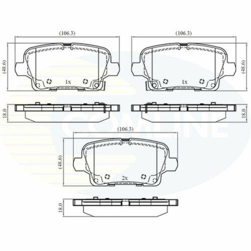 Fits Vauxhall Insignia Genuine Comline Rear Brake Pads