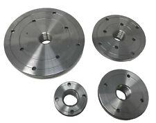 Maxwood 2 3 4 Amp 6 Steel Wood Lathe Face Plate Set 1 X 8tpi Threaded New