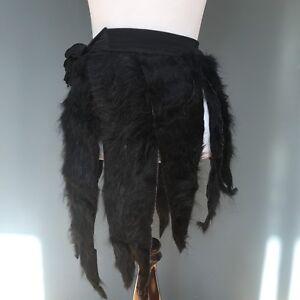 Women's Clothing Size Large Black Fringe Mini Skirt