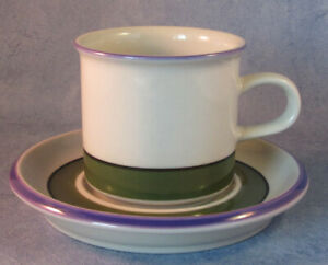 ARABIA-OF-FINLAND-Vintage-Selja-Coffee-Cup-amp-Saucer-Excellent