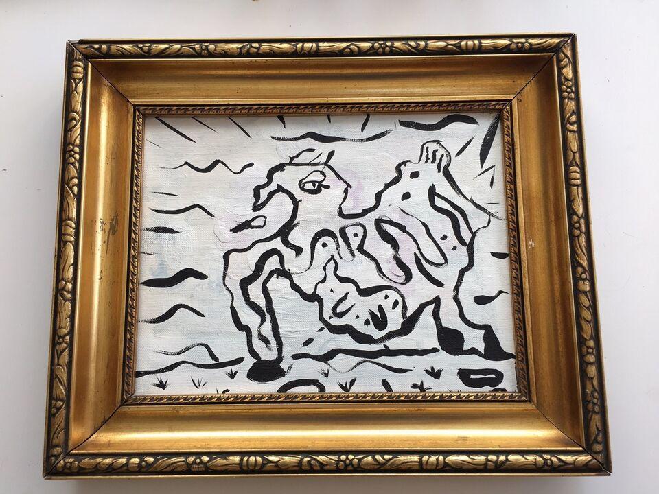 Akrylmaleri, Tobias Nørgaard , motiv: Dyr
