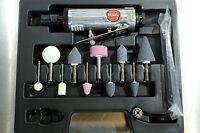 "Suntech 1/4"" Mini Pneumatic Air Die Grinder Kit + Mounted Points + Case"