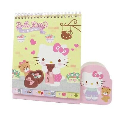 2021 Sanrio Hello Kitty Table Calendar With Stickers~ NEW ...