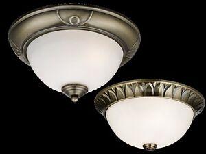 PLAFONNIER-SUSPENSION-LAMPE-Decoratif-Metal-Laiton-Vieilli-Verre-LED-NEUF