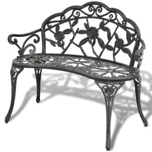 Panchine Da Esterno Design.Panchina Da Giardino In Alluminio E Ghisa Panca Design Da Esterno