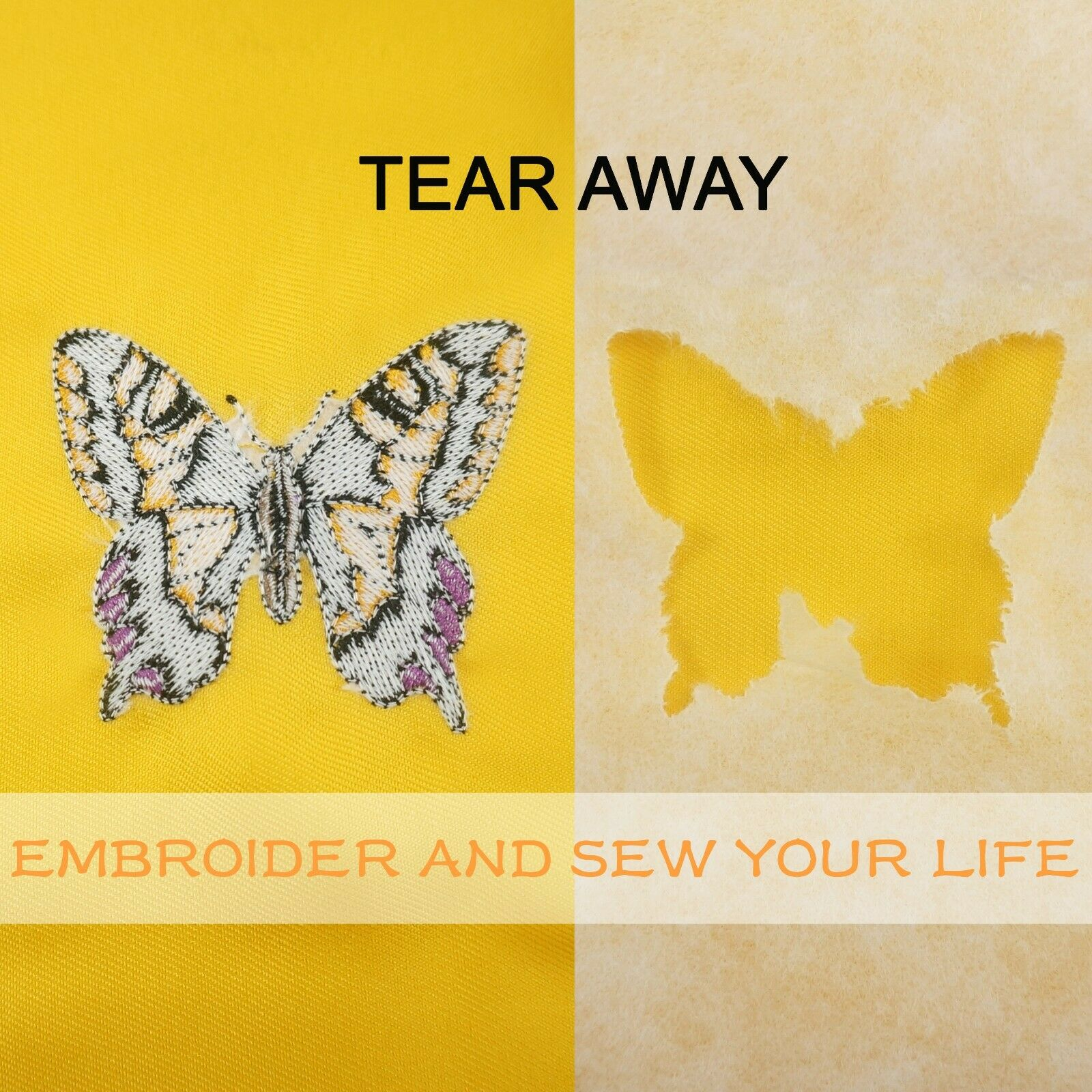 """18/"""" wide STUCK Adhesive Tear Away Embroidery Stabilizer Does not Gum Needle"""
