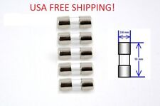 Set Of 5 4a 125250v Micro Glass Fuse 36 X 10mm Usa Free Shipping