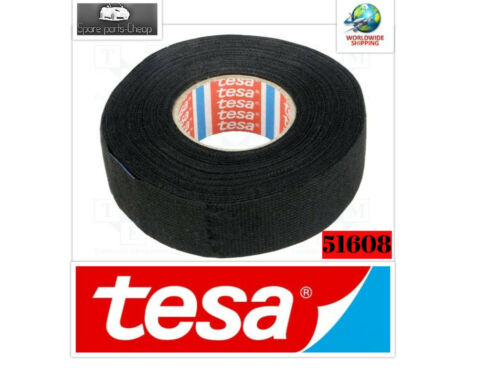 TESA 51608 Wiring Loom Harness Adhesive Cloth Fabric Fleece Tape 15m x 19mm