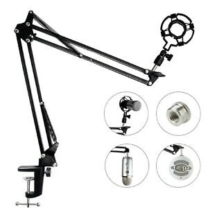 Microphone-Bras-Support-pour-Blue-Yeti-Snowball-Microphone-Mic-Clip-Reglable-Boom