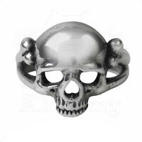 Ring Bague Alchemy Gothic Memoria Mortalis Skull Crâne Memento Mori Gothique