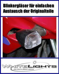 Weisse Blinker Gläser BMW K 1200 S R 1200 S hinten clear signal lenses rear