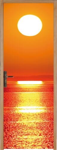 Sticker pour porte Couché de soleil 93x204cm réf 168