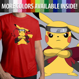 d8711eb4 Image is loading Pokemon-Pikachu-Naruto-Sage-Mode-Ninja-Anime-Unisex-