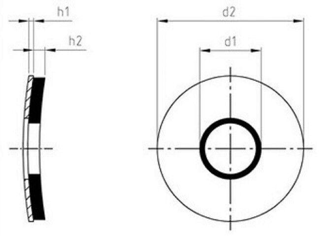 Acier Inoxydable VA Rondelles D'Étanchéité D'Étanchéité D'Étanchéité EPDM Plates Vis de Forage 4 à 12 Mm 2050ca