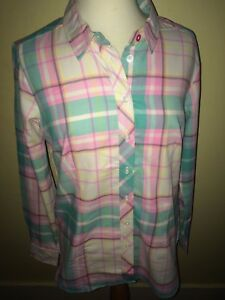 JOULES-Cheska-Check-Brushed-Cotton-Shirt-Sz-12-16-Free-UK-P-amp-P