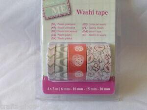 4x Washi Tape Scrapbooking 6-20 mm x 3 KM oiseaux fraises cartes Conception  </span>
