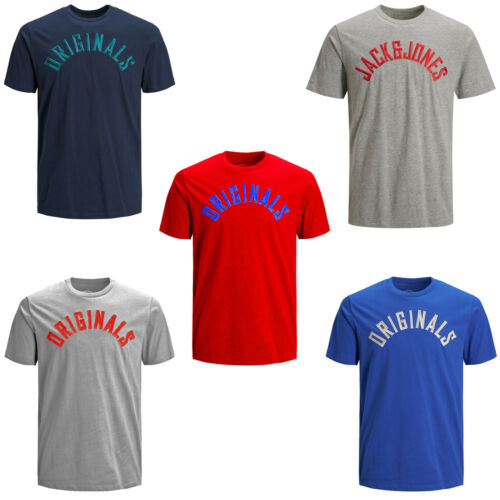 Jack /& Jones Originals T-Shirt Chest Logo Summer Cotton Tee Mens JORMelvin