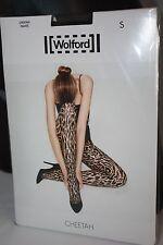 Wolford ~ CHEETAH ~ tights BNWT ~ Medium UK 14/16 sahara & black