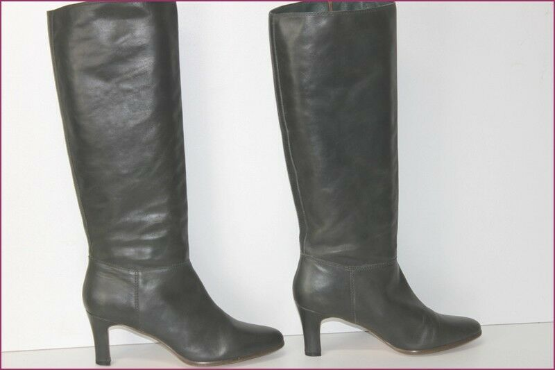 ODDS WOMAN Riding Boots heels Leather Green Hunting T 40 TOP CONDITION