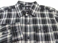 Volcom Plaid Button Shirt Mens Size Medium M Retail $60