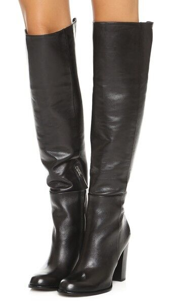 Sam Edelman Black 'Rylan' Leather Knee-high Boots  sz  6.5 / 7.5    275