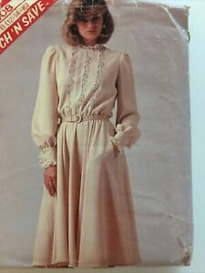 1983 McCalls 8408 Vintage Sewing Pattern Womens Dress Size 12 14 16