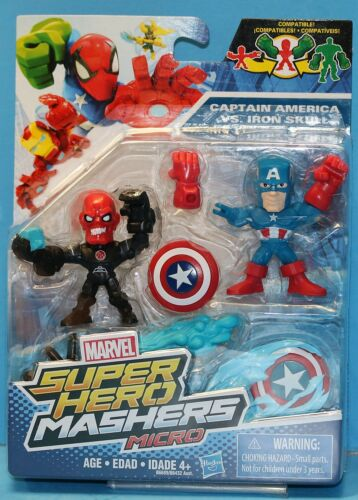 MARVEL SUPER HERO MASHERS micros 2 Pack Captain America VS Red Skull