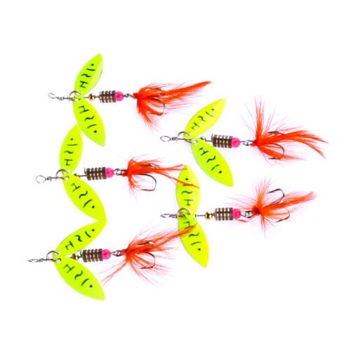 Spinner Fischköder Metall Löffel Locken harten köder angelgerät Künstliche ZG