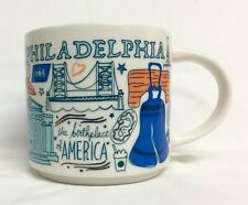 Starbucks Mug Philadelphia Been There Series Coffee Cup 14 Oz 011086596 PA