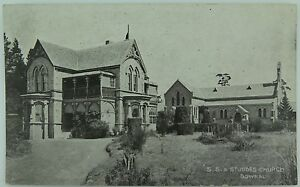 RARE-BOWRAL-ST-JUDES-CHURCH-amp-STATE-SCHOOL-NEW-SOUTH-WALES-EARLY-1900S-POSTCARD