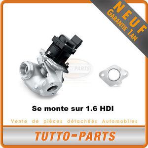 Vanne Egr Pour Moteur 1.6 Hdi - Neuve Garantie 1 An - Qualite Origine Brillant