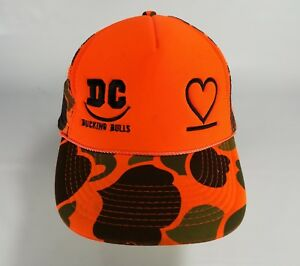 DC Bucking Bulls Hat Cap Camo Heart Hunting Snapback Mesh Trucker ... ebe8ff967055