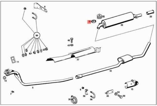 Genuine Mercedes Damping Pad W108 W109 W111 W112 C107 C123 C124 1074920082